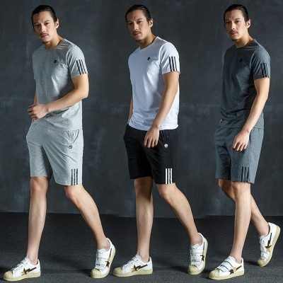 Sports suit, men's summer shorts, casual sportswear, men's, middle-aged and elderly father, sportswear, Papa's set