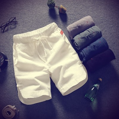 Summer cotton pants men's casual shorts summer five pants loose size sport beach pants Metrosexual pants