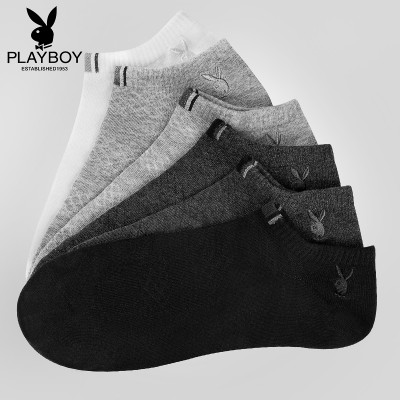 Playboy socks, summer socks, socks, low, invisible, shallow, short canister, deodorant cotton, socks, four seasons