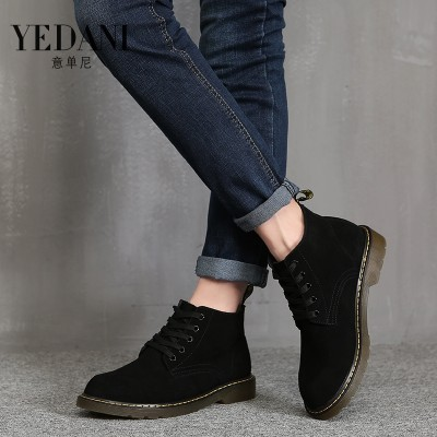 Men's summer men Martin boots Suede Boots Korean men's boots boots British all-match high help men casual shoes