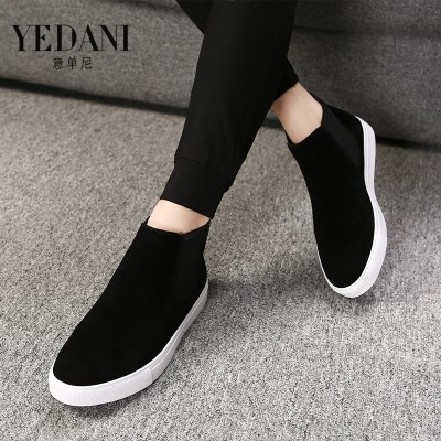 Men's summer men Martin Boots Men's boots pedal leisure shoes lazy trend of Korean high tops