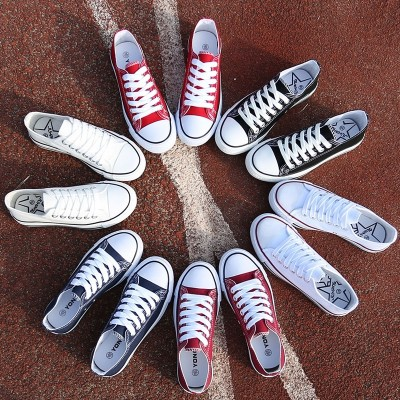 The summer white canvas shoes female all-match white shoes shoes street shoes leisure Korean flat shoes students