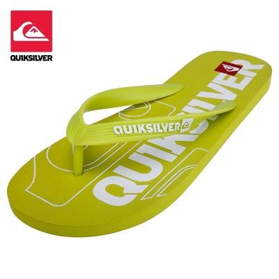 Quiksilver Beach Flip Flops, men's Non Slip flat slippers, casual feet, beach slippers