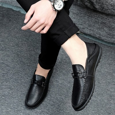 The British men's shoes summer e step Doug Leather Mens Casual shoes leather shoes all-match set foot out driving shoes