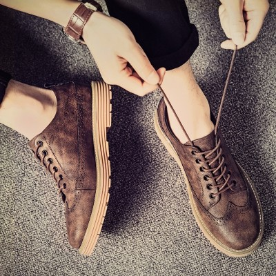 new summer trend of Korean male shoes shoes casual shoes all-match shoes breathable shoes in England