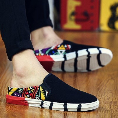 Baotou men's casual summer men half Slippers Sandals Flip sandals slippers lazy personality trend of Korean.