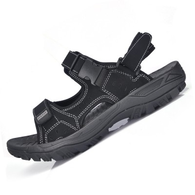 Vietnam leather sandals men beach shoes  new summer large size shoes men sports outdoor slippers