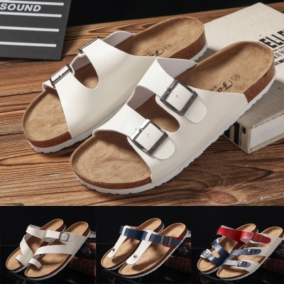 A couple of cork slippers slippers sandals male Korean male summer men's outdoor tide beach shoes flops men shoes