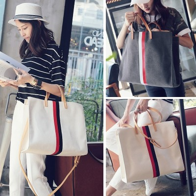 Wei pure  new Tote Bag Handbag simple canvas bag bag handbag shoulder bag Crossbody Bag