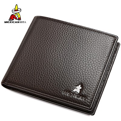 The scarecrow man short leather wallet wallet card package wallet leather wallet business cross section of young men