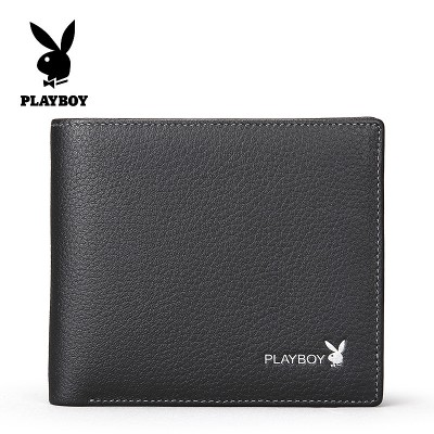 Men's Leather Wallet dandy short youth soft sheepskin Cross Section Thin Wallet Money tide students