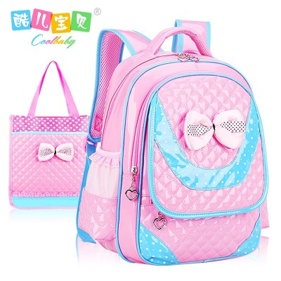 Korean children's primary school bags, grade 1-3-4-6 girls bags, 6-12 years old, lovely girls shoulder bag