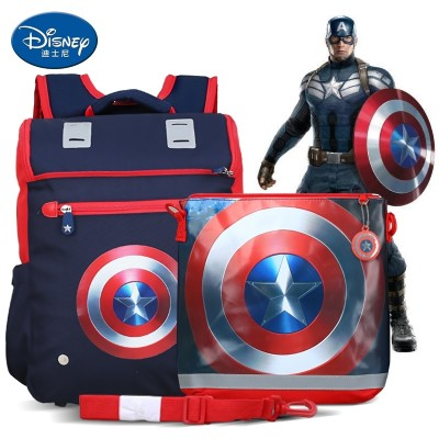 Disney pupil bag boy 1-3-5 grade American captain boy backpack child 6-12 years old 4