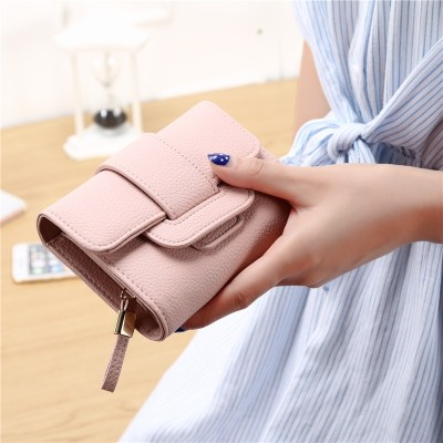 Fruit Princess Wallet female shorts hand bag Ladies Wallet  new Japan simple zero wallet card package