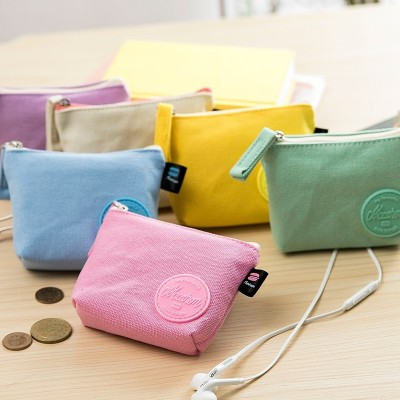 the new simple Korean version, zero purse, female Mini coin bag, small purse, short cloth, pocket bag, canvas