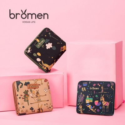 new small purse, madam Korean version, short Mini change bag, student folding leather wallet, lovely zero wallet