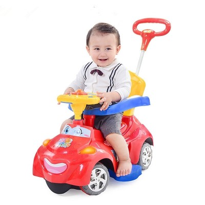 The baby barrow child's joy twist and twist the car with the music slithering around the baby's toy