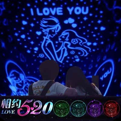 The boy's day gift girl friend of the girl friend creative little gift is special practical clear to send the girl friend the projection lamp