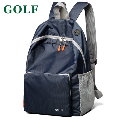 GOLF foldable double shoulder bag female han edition ultra light portable schoolbag woman travel bag man