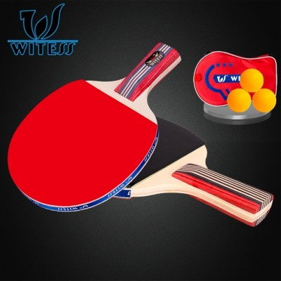 WITESS table tennis shoot double beat 2 finished two novice training table tennis racket grip pen PPQ