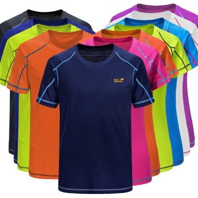 Speed suit, short sleeve neck, running dress, big summer clothes, outdoor sports T-shirt