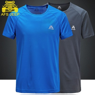 AFS JEEP speed suit, short sleeved T-shirt, round neck, summer sports, running, outdoor, big size, loose gym, T-shirt