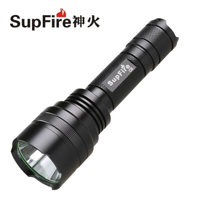 SupFire C8 LED rechargeable flashlight Shenhuo long-range super bright T6 household mini outdoor self-defense