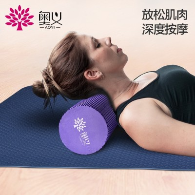 The foam roller shaft muscle relaxation Yoga Yoga foam column roller stick mace massage stick
