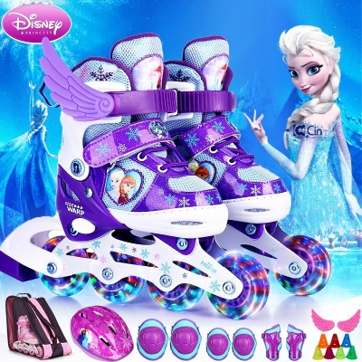 Disney skates, children's outfits, 3-6 roller skates, skating, roller skates, 4-5-10 year old beginners, men and women