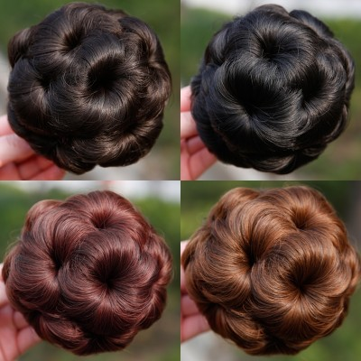 The other nine jaw wig flower girl bride hair hair hair ring false ball grip head bag