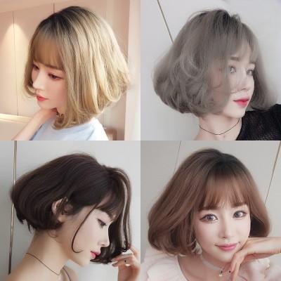 Female hair wig Bobo head short coil in the air thin bangs handsome garnishment repair face natural fluffy hair cover