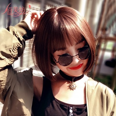 The rubber band ring wig Hongfa show the small meatball head female hair hair flower bud flower simulation