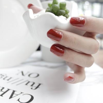 Color rose foot nail polish peelable can tearing non-toxic tasteless pumpkin bean Mermaid nude color nail polish