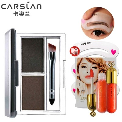 Carslan eyebrow waterproof anti sweat double eyebrow thrush with stereo mascara makeup eyebrow pencil