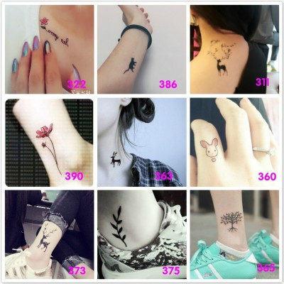 Tattoo stickers, men and women waterproof, lasting, small, fresh, sexy, body painting, tattoo stickers simulation