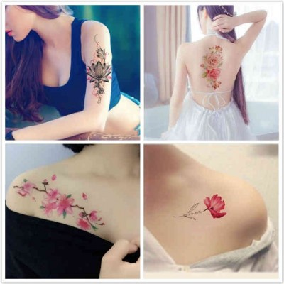 Tattoo stick, waterproof lasting, female big picture, flowers, rose studio, photo scars, tattoo stickers 10