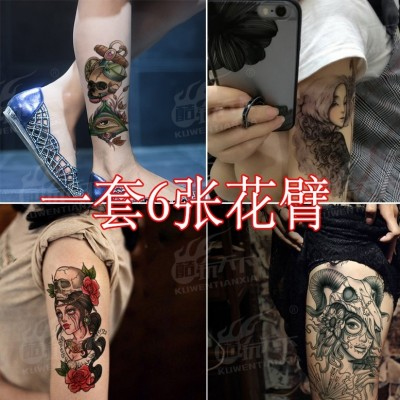 Coldplay world tattoo tattoo lasting waterproof Sakura Prajna goddess of men and women