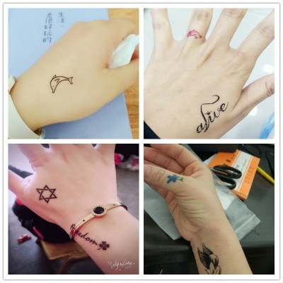 A 60 Xiaoqing new tattoo girl cute beautiful color waterproof Harajuku creative Tattoo Sticker elk