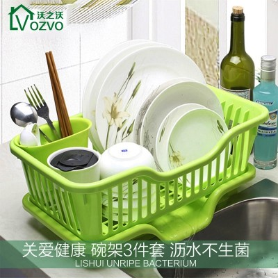 Wo Wo kitchen plastic bowl dripper dish rack storage rack shelf storage rack floor cupboard table
