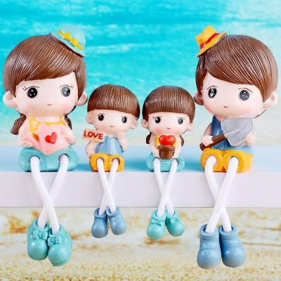 The new room decoration decoration garden Home Furnishing lovely doll hanging inside the bedroom resin creative characters display