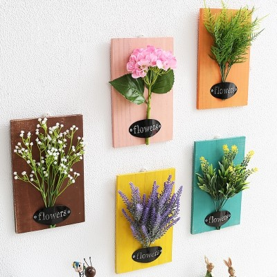 The bedroom living room wall decoration wall hangings Home Furnishing simulation flower mural creative restaurant indoor plant accessories