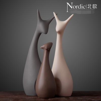 Nordic decoration creative ceramics handicraft decoration accessories Home Furnishing deer living room TV cabinet cabinet wedding gift