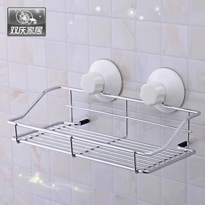 Double rack storage rack toilet bathroom sucker hanging Restroom bathroom rack bathroom rack