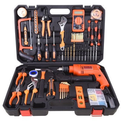 Subable manual combination of household tool kit hardware sets of German electrician's woodwork repair kit