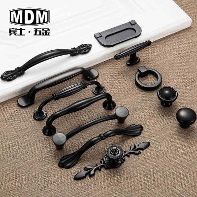 American black ambry cupboard door drawer door handles the hand of contemporary contracted European cabinet small hardware hand