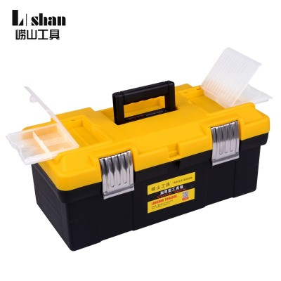 Laoshan plastic hardware toolbox home repair multi-function large car receive box tool box art box iron
