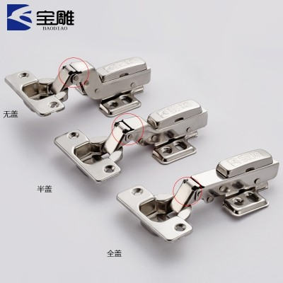304 stainless steel hinged cabinet door aircraft pipe and the damper of the hydraulic buffer door hinge
