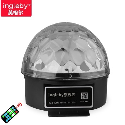 Ingel voice control stage lighting remote crystal magic ball wedding bar lamp, KTV flash