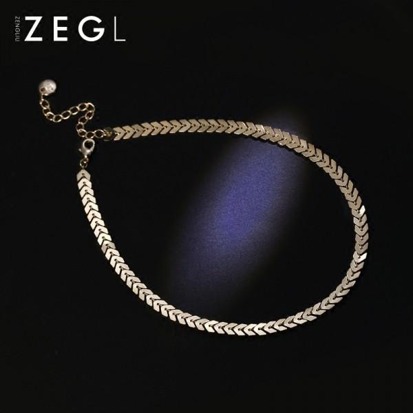 Zengliu South Korea Female Neck Collar Necklace Jewelry Chain