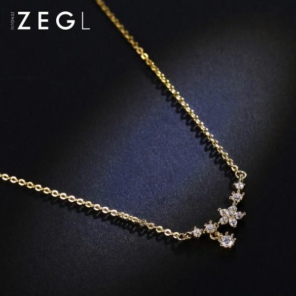 Zengliu Korea All Match Clothes Accessories Pendant Necklace Chain